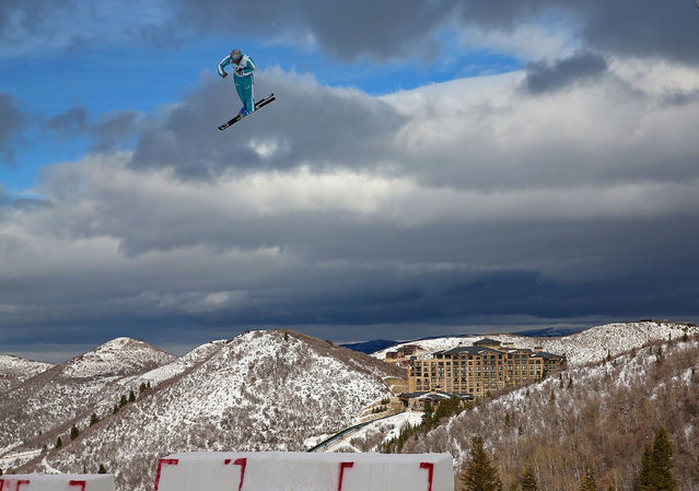 Andreas Isoz of Switzerland competes during qualifying for the Mens Aerials at the FIS Freestyle Ski World Cup Aerial Competition at Deer Valley on January 10, 2014 in Park City, Utah. (Photo by Mike Ehrmann/Getty Images)