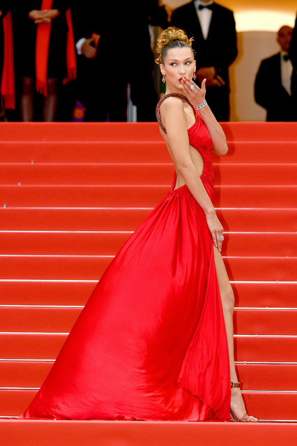 """Bella Hadid attends the screening of """"Pain And Glory (Dolor Y Gloria/Douleur Et Gloire)"""" during the 72nd annual Cannes Film Festival on May 17, 2019 in Cannes, France. (Photo by Dominique Charriau/WireImage)"""