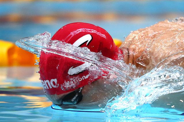 Zak Logue of Great Britain competes in the Men's 400 Individual Medley heats on day three of the British Swimming Championships at Tollcross International Swimming Centre on April 14, 2016 in Glasgow, Scotland. (Photo by Clive Rose/Getty Images)