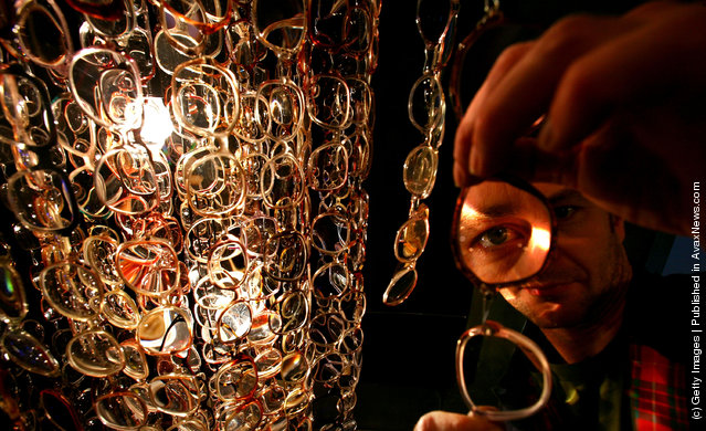 Chandelier Made Out Of Spectacles