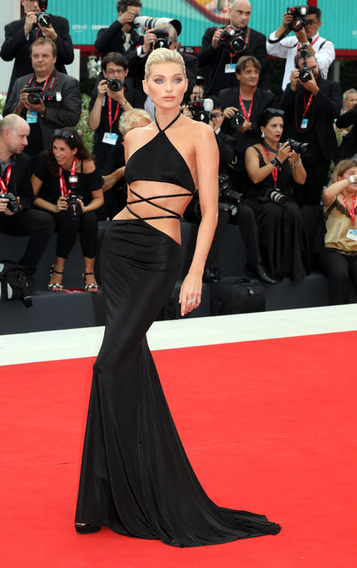 Elsa Hosk walks the red carpet ahead of the opening ceremony during the 76th Venice Film Festival at Sala Casino on August 28, 2019 in Venice, Italy. (Photo by Elisabetta A. Villa/WireImage)