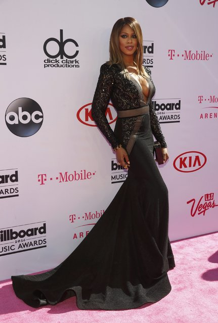 Actress Laverne Cox arrives at the 2016 Billboard Awards in Las Vegas, Nevada, U.S., May 22, 2016. (Photo by Steve Marcus/Reuters)