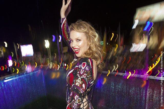 Kylie Minogue attends 2012 Sydney Gay & Lesbian Mardi Gras VIP reception