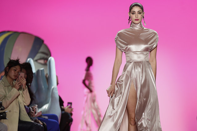 The Christian Siriano collection is modeled during Fashion Week, Thursday, February 6, 2020, in New York. (Photo by John Minchillo/AP Photo)