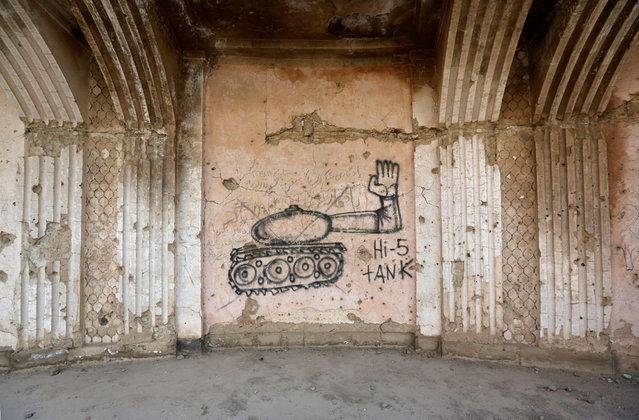Graffiti is seen on a wall of the Darul Aman palace in Kabul, Afghanistan, June 5, 2016. (Photo by Omar Sobhani/Reuters)