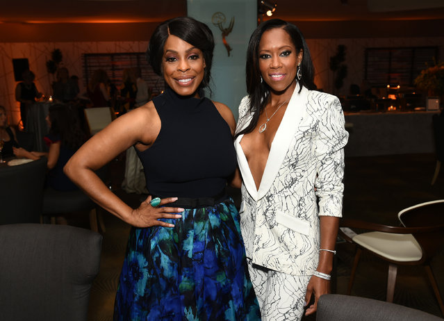 Niecy Nash, left, and Regina King attend the Television Academy's 67th Emmy Awards Performers Nominee Reception at the Pacific Design Center on Saturday, September 19, 2015, in West Hollywood, Calif. (Photo by Charles Sykes/Invision for the Television Academy/AP Images)