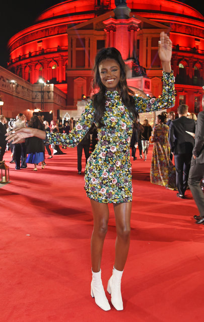 British model and designer Leomie Anderson attends The Fashion Awards 2017 in partnership with Swarovski at Royal Albert Hall on December 4, 2017 in London, England. (Photo by David M. Benett/Getty Images)
