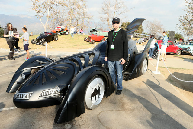 Tim Flattery, designer of the Batmobile at Art Center College of Design's annual Car Classic is an entertainment-automotive mash-up showcasing iconic movie cars, celebrated high-end vehicles and the people who influence the global automotive design industry on Sunday, October 26, 2014 in Pasadena, CA. (Photo by Alexandra Wyman/Invision for Art Center College of Design/AP Images)
