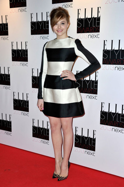 Chloe Moretz attends The Elle Style Awards 2013 at The Savoy Hotel on February 11, 2013 in London, England. (Photo by Dave J. Hogan)