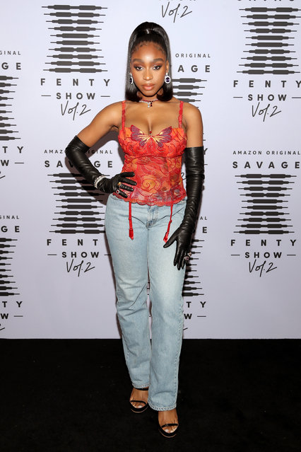 In this image released on October 1, Normani attends Rihanna's Savage X Fenty Show Vol. 2 presented by Amazon Prime Video at the Los Angeles Convention Center in Los Angeles, California; and broadcast on October 2, 2020. (Photo by Jerritt Clark/Getty Images for Savage X Fenty Show Vol. 2 Presented by Amazon Prime Video)