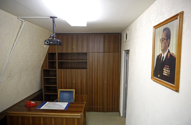 Josip Broz Tito's office is seen in his underground secret bunker (ARK) in Konjic, October 16, 2014. (Photo by Dado Ruvic/Reuters)