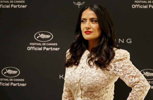 Actress Salma Hayek poses during the 71st annual Cannes Film Festival at Majestic Hotel on May 13, 2018 in Cannes, France. (Photo by Regis Duvignau/Reuters)