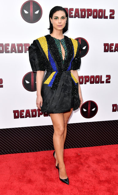 Actress Morena Baccarin attends the Deadpool 2 screening at AMC Loews Lincoln Square on May 14, 2018 in New York City. (Photo by Michael Loccisano/Getty Images)