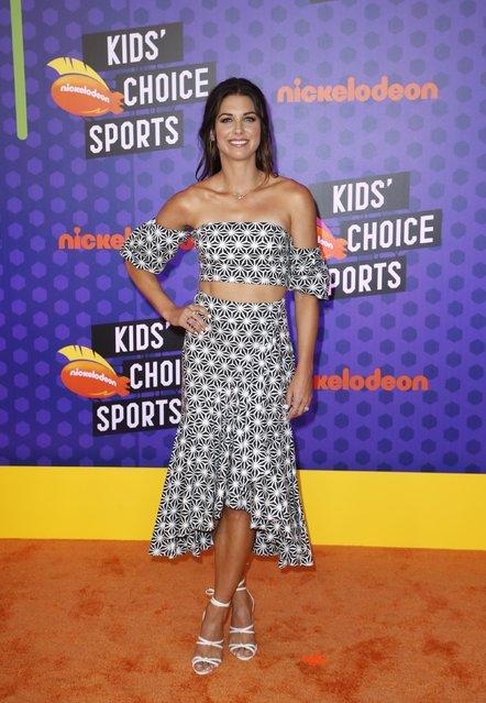 U.S. soccer player Alex Morgan attends Nickelodeon Kids' Choice Sports Awards 2018 at Barker Hangar on July 19, 2018 in Santa Monica, California. (Photo by Danny Moloshok/Reuters)
