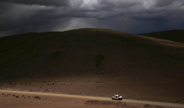 Marek Dabrowski of Poland drives his Toyota during the seventh stage in the Dakar Rally 2016 in Uyuni, Bolivia, January 9, 2016. (Photo by Marcos Brindicci/Reuters)