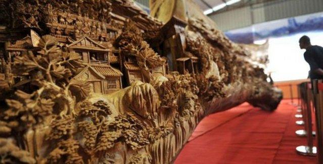 Wooden Sculpture By Zheng Chunhui