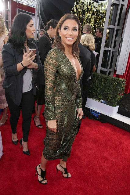 Eva Longoria seen at Red Carpet arrivals for the 22nd Annual SAG Awards at Shrine Auditorium on Saturday, January 30, 2016, in Los Angeles, CA. (Photo by Eric Charbonneau/Invision for People/AP Images)