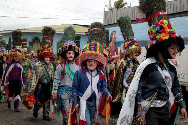 Dancers take part in the celebration of the feast honoring Saint Sebastian in Diriamba, Nicaragua January 19,2017. (Photo by Oswaldo Rivas/Reuters)
