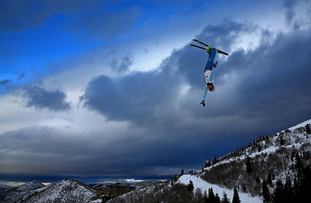 Anton Kushnir of Bulgaria competes during qualifying for the Mens Aerials at the FIS Freestyle Ski World Cup Aerial Competition at Deer Valley on January 10, 2014 in Park City, Utah. (Photo by Mike Ehrmann/Getty Images)