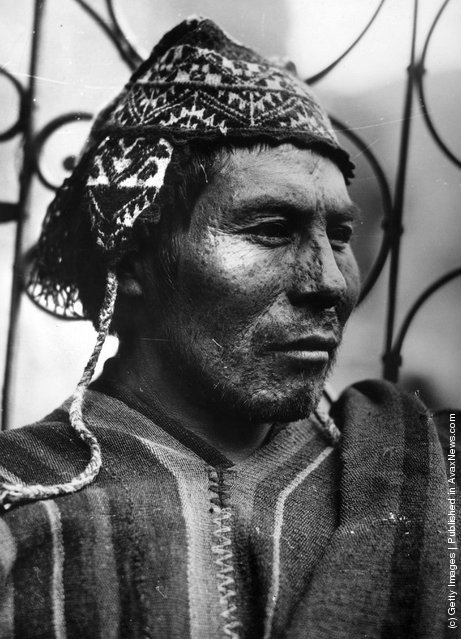 A chief of one of the indigenous tribes of Peru, 1955