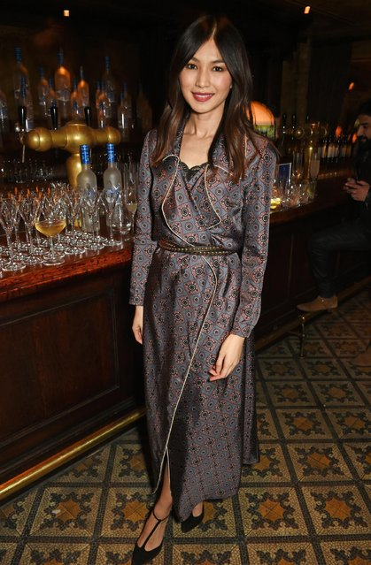 Gemma Chan attends a dinner co-hosted by Harvey Weinstein, Burberry & Evgeny Lebedev ahead of the 2017 BAFTA film awards in partnership with Grey Goose at Little House Mayfair on February 10, 2017 in London, England. (Photo by David M. Benett/Dave Benett/Getty Images for Grey Goose Vodka)