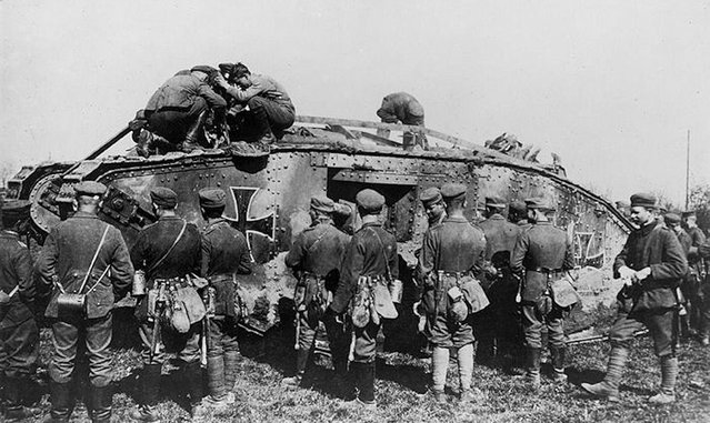 German troops familiarise themselves with an enemy tank now under new ownership. (Photo by Anthony Tucker-Jones/Mediadrumworld.com)