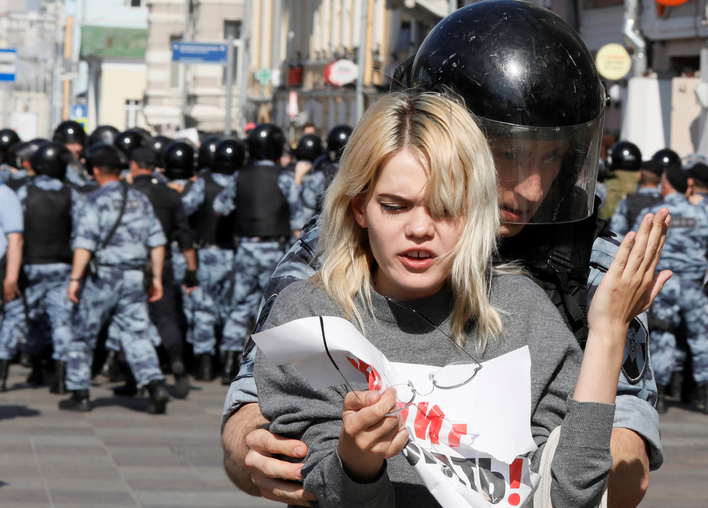Russian Police Arrest over 1,000 in Moscow