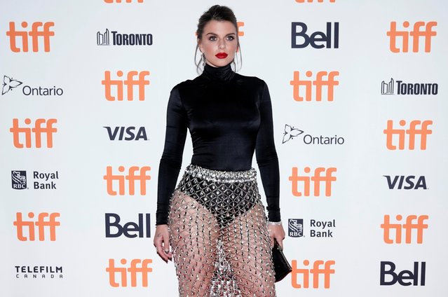 """Actress Julia Fox attends a premiere for """"Uncut Gems"""" on day five of the Toronto International Film Festival at the Princess of Wales Theatre on Monday, September 9, 2019, in Toronto. (Photo by Mark Blinch/Reuters)"""