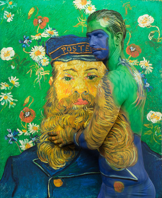 Titled 8,000,000 after price paid for Portrait of Joseph Roulin by Van Gogh. (Photo by Trina Merry/Caters News)