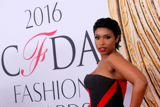 Actress and musician Jennifer Hudson arrives for the 2016 CFDA Fashion Awards in Manhattan, New York, U.S., June 6, 2016. (Photo by Andrew Kelly/Reuters)