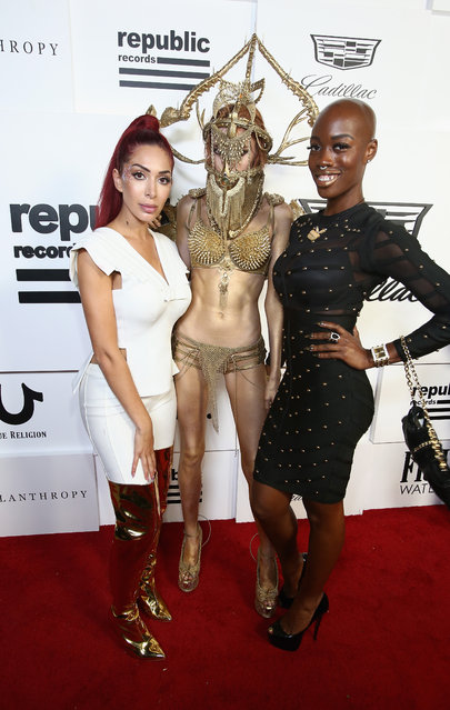 Farrah Abraham (L) and Guests attend the VMA after party hosted by Republic Records and Cadillac at TAO restaurant at the Dream Hotel on August 27, 2017 in Los Angeles, California. (Photo by Tommaso Boddi/Getty Images for Republic Records )
