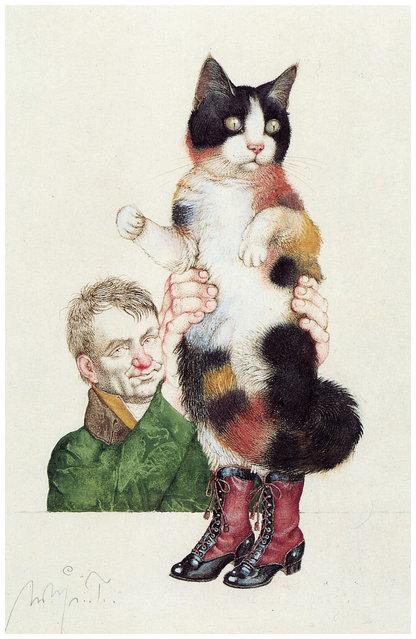 Der Gestiefelte Kater (Puss in Boots). Artwork by Michael Mathias Prechtl