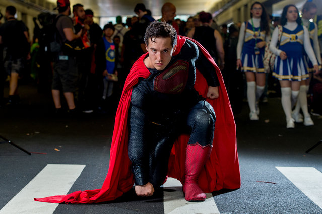 A fan cosplays as Superman during the 2017 New York Comic Con, Day 4 on October 8, 2017 in New York City. (Photo by Roy Rochlin/WireImage)