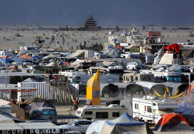 A view of Black Rock City as approximately 70,000 people from all over the world gather for the 30th annual Burning Man arts and music festival in the Black Rock Desert of Nevada, U.S. September 2, 2016. (Photo by Jim Urquhart/Reuters)