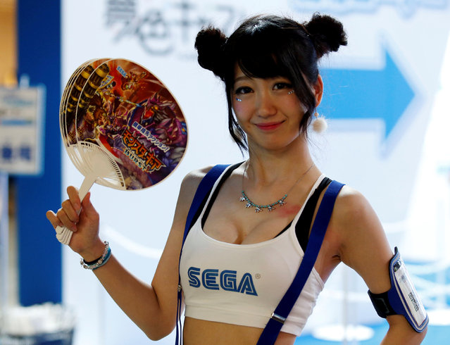 Sega's hostess poses for photographers at Tokyo Game Show 2016 in Chiba, east of Tokyo, Japan, September 15, 2016. (Photo by Kim Kyung-Hoon/Reuters)