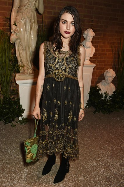 Frances Bean Cobain attends the launch party hosted by Christopher Bailey and Jefferson Hack to celebrate the Burberry and Dazed cover featuring Jean Campbell at Makers House on September 20, 2016 in London, England. (Photo by David M. Benett/Dave Benett/Getty Images for Dazed Media)