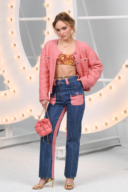 Lily-Rose Depp attends the Chanel Womenswear Spring/Summer 2021 show as part of Paris Fashion Week on October 06, 2020 in Paris, France. (Photo by Stephane Cardinale – Corbis/Corbis via Getty Images)