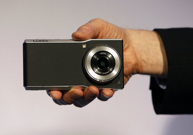 A Panasonic Lumix CM1 smartphone/camera hybrid with 4K video is displayed at a Panasonic news conference during the 2015 International Consumer Electronics Show (CES) in Las Vegas, Nevada January 5, 2015. (Photo by Steve Marcus/Reuters)