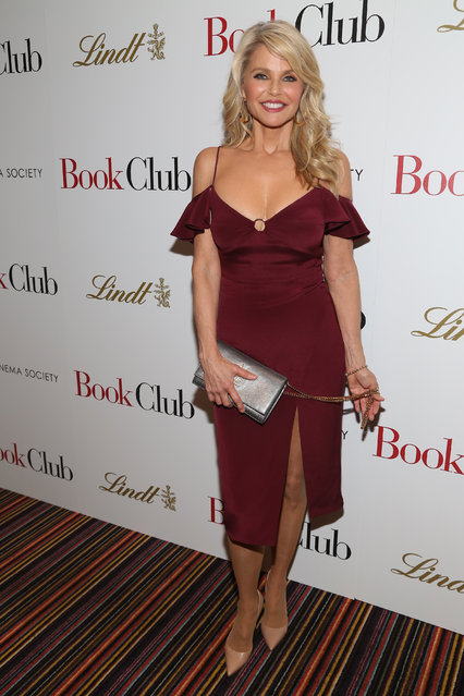 """Christie Brinkley attends Paramount Pictures With The Cinema Society & Lindt Host A Screening Of """"Book Club"""" on May 15, 2018 in New York City. (Photo by Sylvain Gaboury/Patrick McMullan via Getty Images)"""