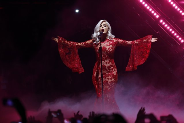 Presenter Bebe Rexha performs during the MTV European Music Awards 2016, in Rotterdam, Netherlands, Sunday, November 6, 2016. (Photo by Peter Dejong/AP Photo)