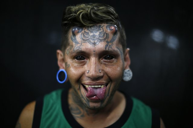 Alex poses for a portrait at Caracas's International Tattoo Festival January 30, 2015. (Photo by Jorge Silva/Reuters)