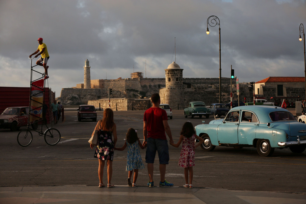 Cycling Head and Shoulders above Havana
