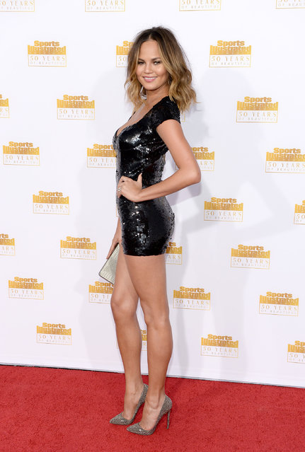 Model Christine Teigen attends NBC and Time Inc. celebrate the 50th anniversary of the Sports Illustrated Swimsuit Issue at Dolby Theatre on January 14, 2014 in Hollywood, California. (Photo by Dimitrios Kambouris/Getty Images)