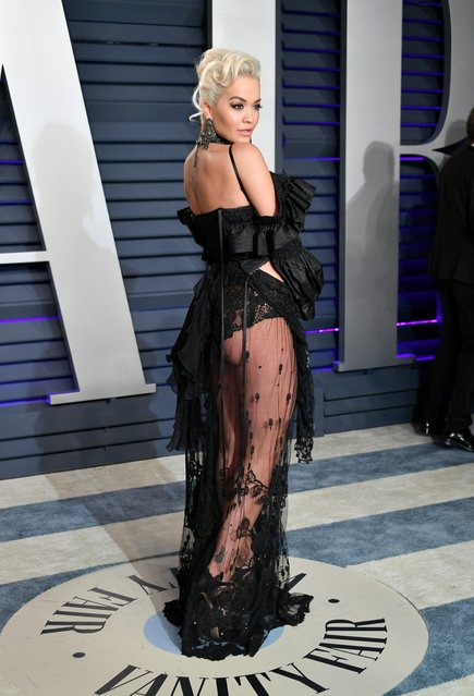 Rita Ora attends the 2019 Vanity Fair Oscar Party hosted by Radhika Jones at Wallis Annenberg Center for the Performing Arts on February 24, 2019 in Beverly Hills, California. (Photo by Dia Dipasupil/Getty Images)