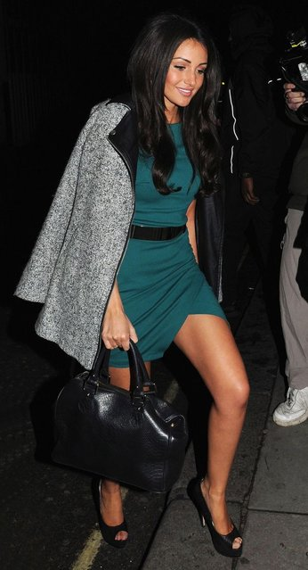 Michelle Keegan arrives at the Libertine night club for a National TV Awards after party. (Photo by Rex Features)