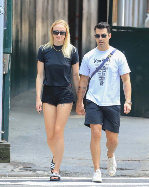 Joe Jonas and Sophie Turner are seen on July 30, 2019 in New York City. (Photo by Say Cheese!/GC Images)