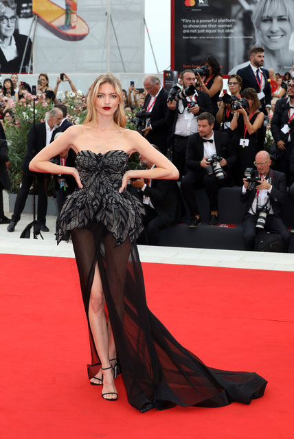 Martha Hunt walks the red carpet ahead of the opening ceremony during the 76th Venice Film Festival at Sala Casino on August 28, 2019 in Venice, Italy. (Photo by Elisabetta A. Villa/WireImage)