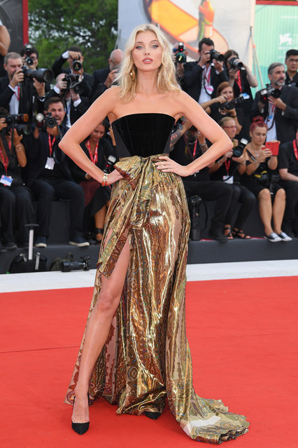 "Elsa Hosk walks the red carpet ahead of the ""Marriage Story"" screening during during the 76th Venice Film Festival at Sala Grande on August 29, 2019 in Venice, Italy. (Photo by Daniele Venturelli/Venturelli Daniele/WireImage)"