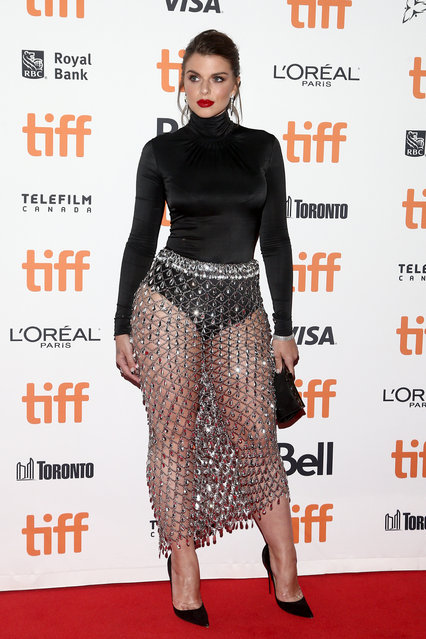 """Julia Fox attends the """"Uncut Gems"""" premiere during the 2019 Toronto International Film Festival at Princess of Wales Theatre on September 09, 2019 in Toronto, Canada. (Photo by Tommaso Boddi/WireImage)"""