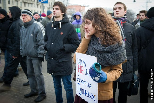 Protestors Denounce Putin Victory In Moscow